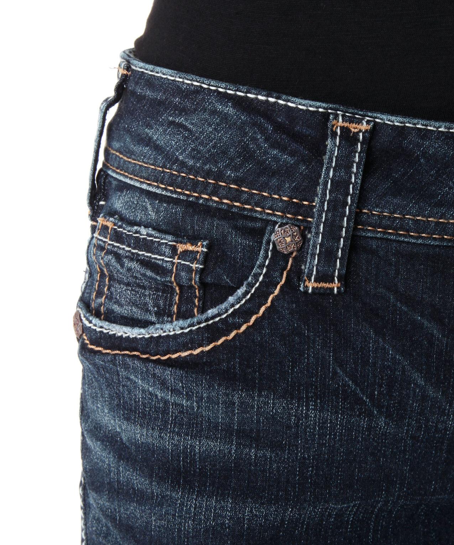 Suki Mid Rise Sai425 Baby Boot Silver Jeans Co