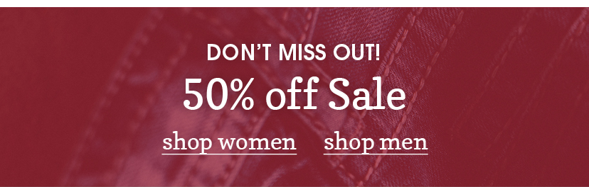 Shop 50% off sale