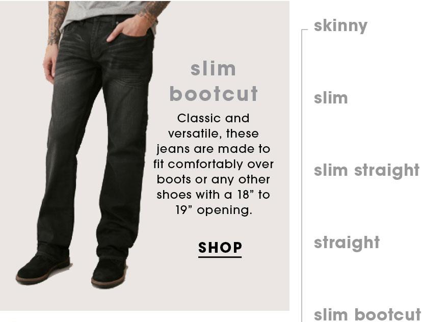 Shop Slim Bootcut Jeans