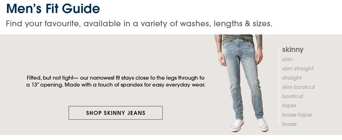 Men's Fit Guide-Shop Skinny Jeans
