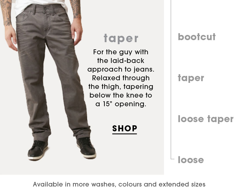 Shop Taper Jeans