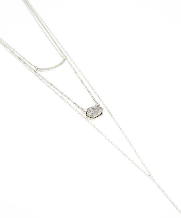 three layer necklace, SILVER, hi-res