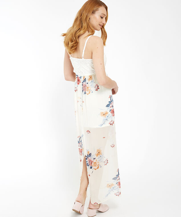 lace bodice with chiffon skirt - wb, IVORY FLORAL, hi-res