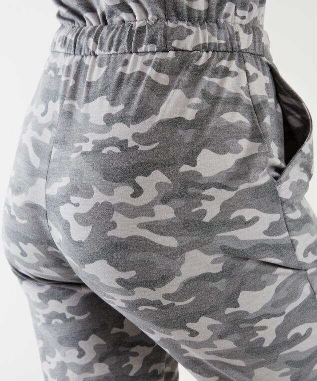 camo print jumpsuit, Grey Camo