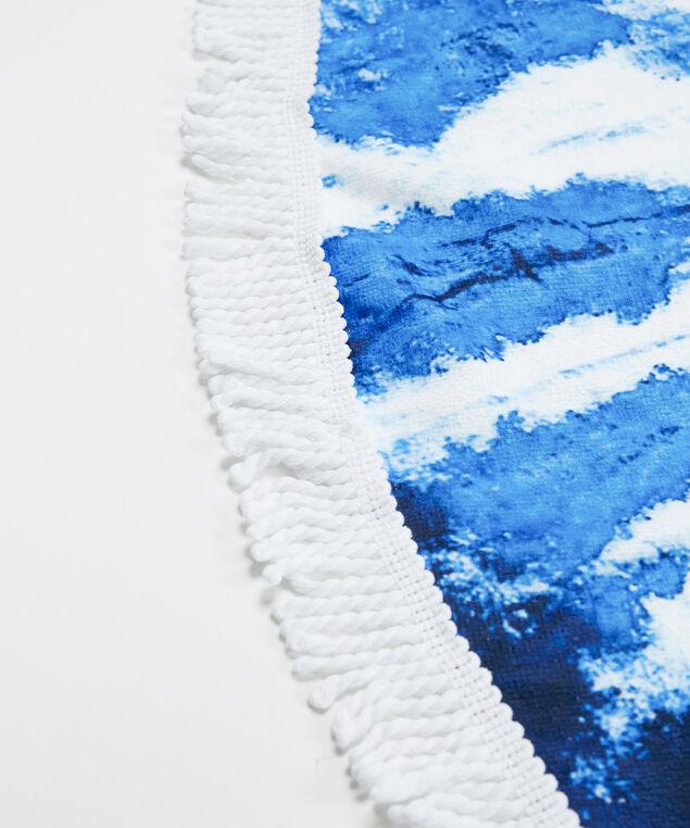 tie dye print circle towel, Blue Pt