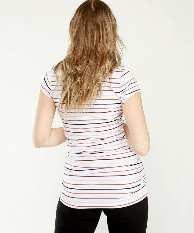 jenny ruched striped, White Stripe