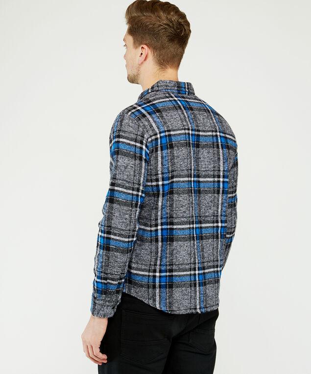brushed plaid shirt, Blue Plaid, hi-res