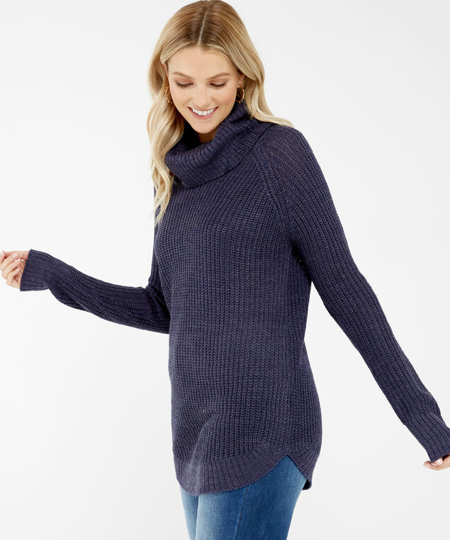wide turtleneck sweater - wb, Purple, hi-res