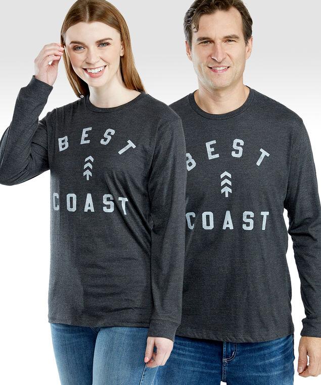 Best Coast tee, Charcoal