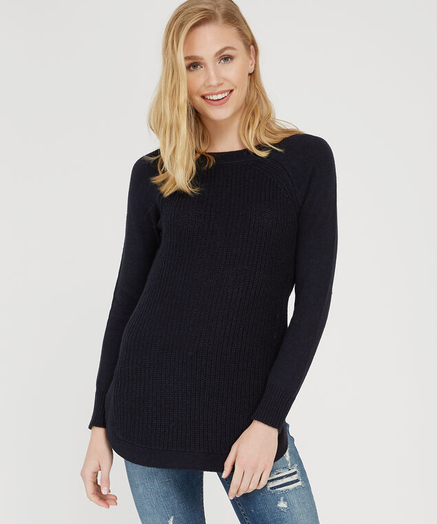 sweater with side zipper - wb, NAVY TWIST, hi-res
