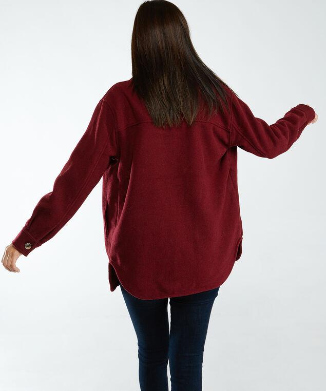 shirt jacket, Burgundy