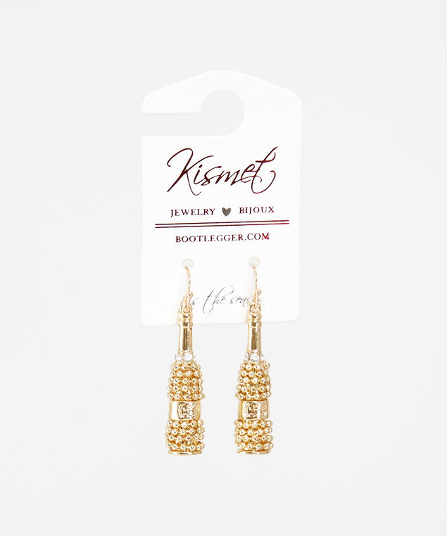 champagne drop earrings, Gold, hi-res