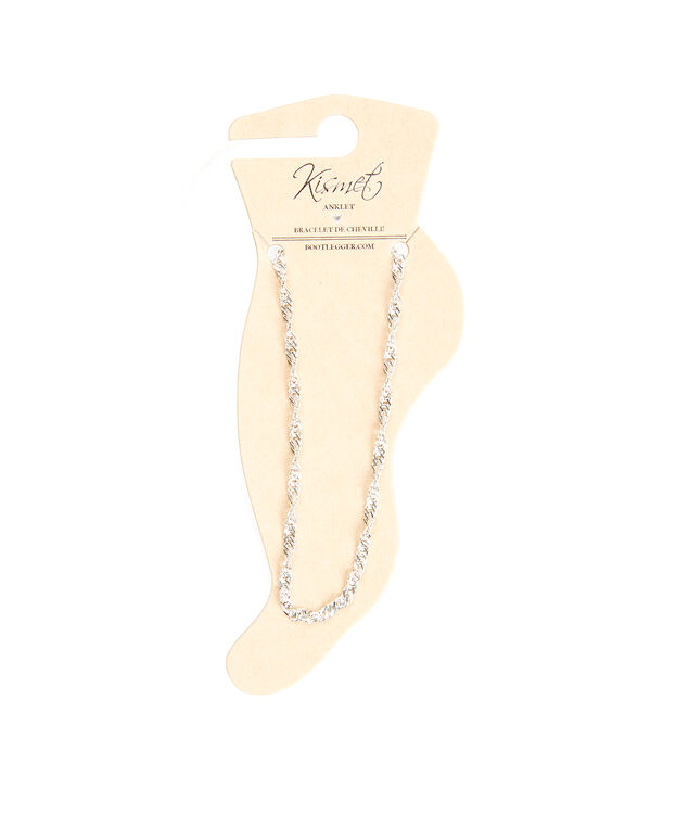 twisted chain anklet, Silver