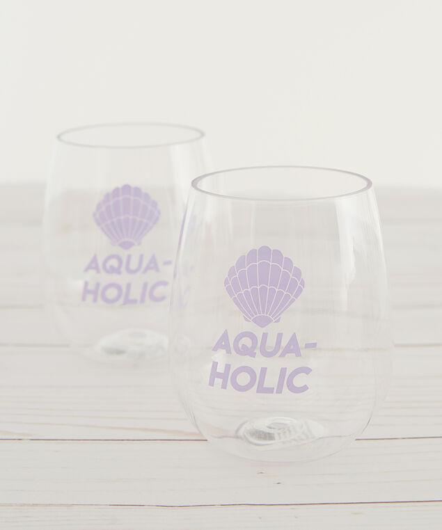 aqua holic stemless wine glasses - wb, CLEAR, hi-res