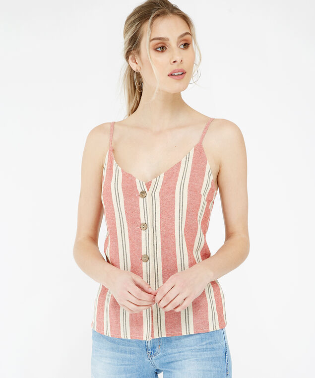 striped button down shirt - wb, SPICE, hi-res