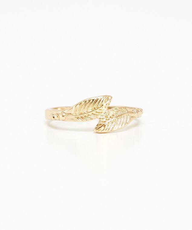 wrap leaf ring, Gold, hi-res