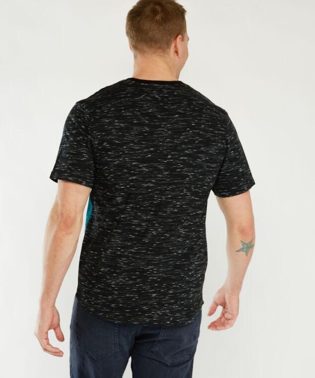 short sleeve color block tee, Teal Combination