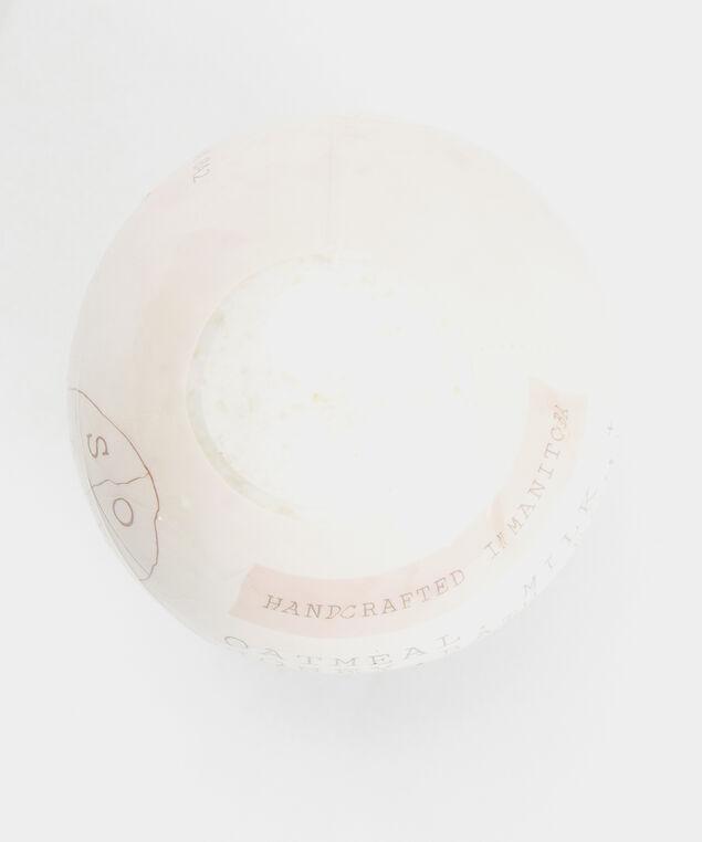 oatmeal milk and honey bath bomb, White