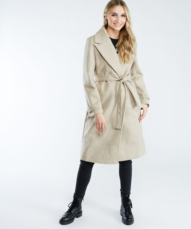 dex 1829255 belted coat, Oatmeal