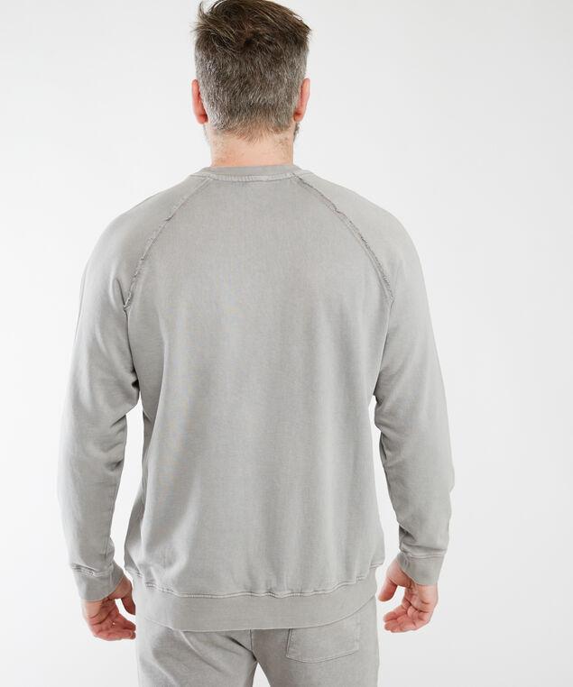 vintage wash crew neck sweatshirt, Grey