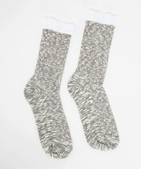 rustic slub sock, GREY, hi-res