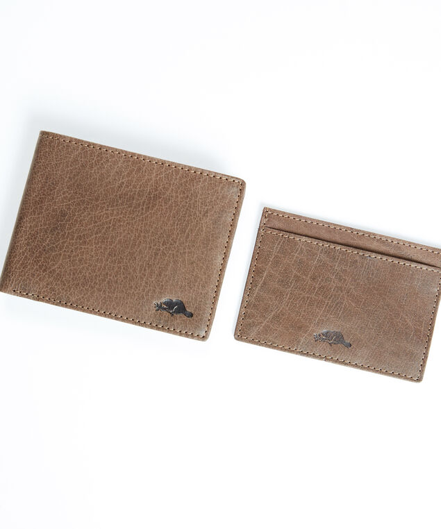 men's leather wallet and cardholder, Brown