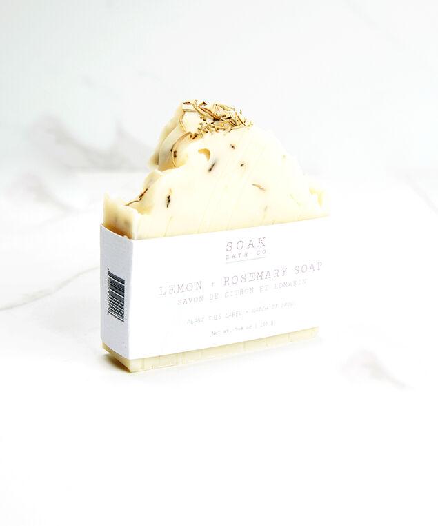 lemon & rosemary soap bar, White