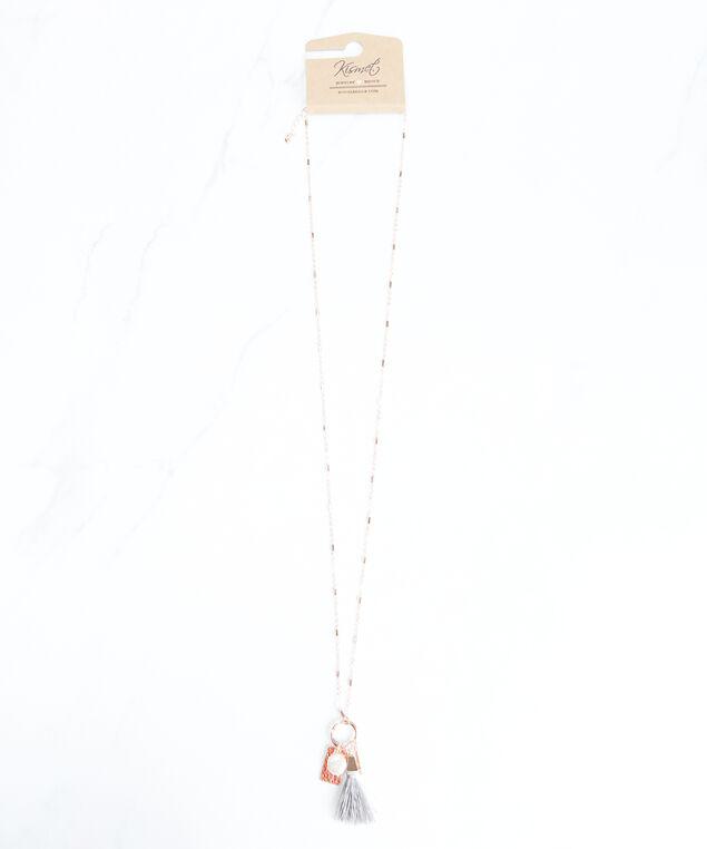 long pendant necklace, Rose Gold