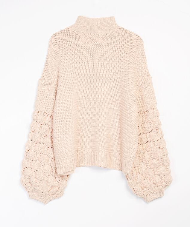 pom pom sweater, Rose, hi-res