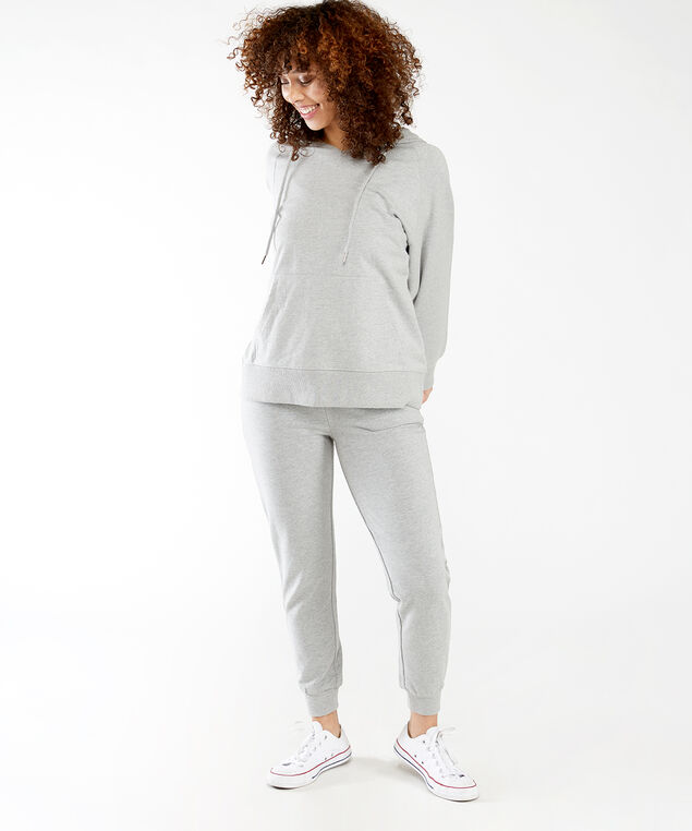 french terry jogger, Heather Grey