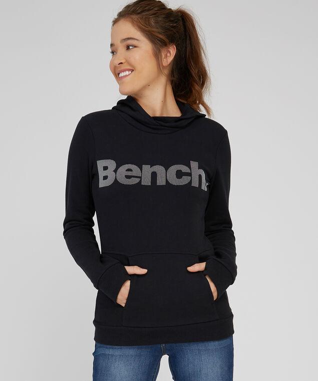 pullover hoodie - wb, BLACK, hi-res