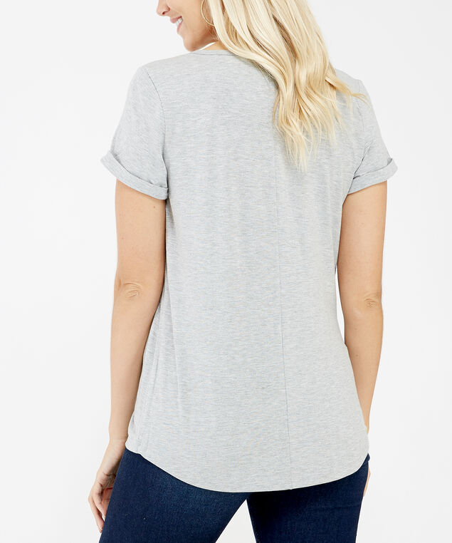 workout tee, Grey, hi-res