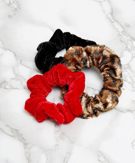 3 pack of velvet scrunchies, ASSORTED, hi-res