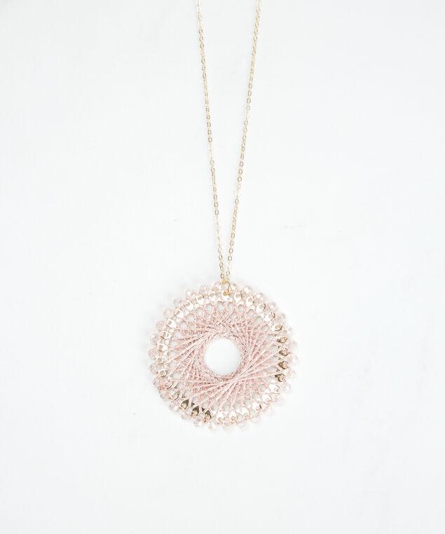 long pendant necklace, Pink