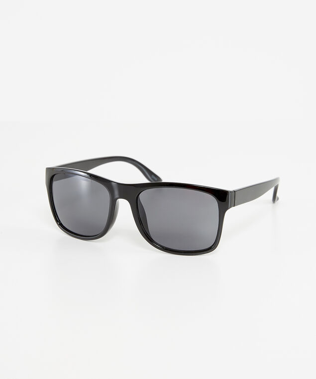 mens black sunglasses, BLACK, hi-res