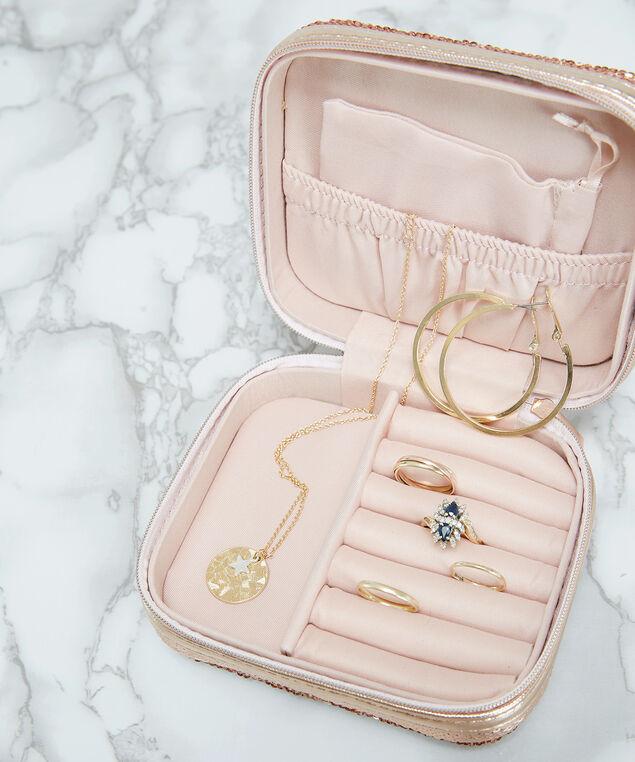 travel jewellery case, ROSE, hi-res