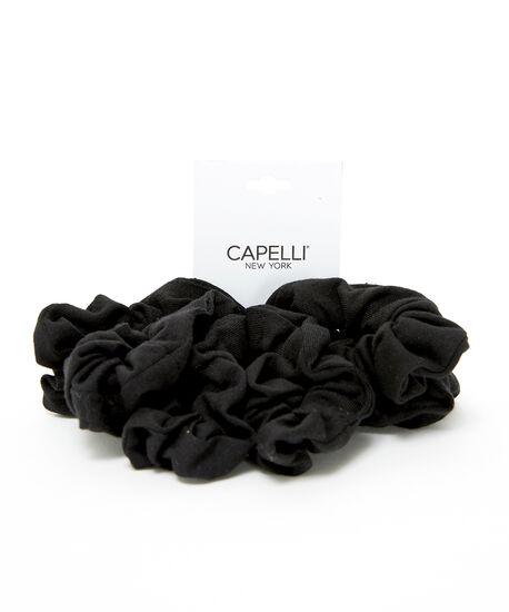 6 pack black scrunchies, BLACK, hi-res