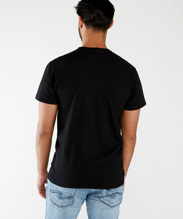 too fast for love tee, Black