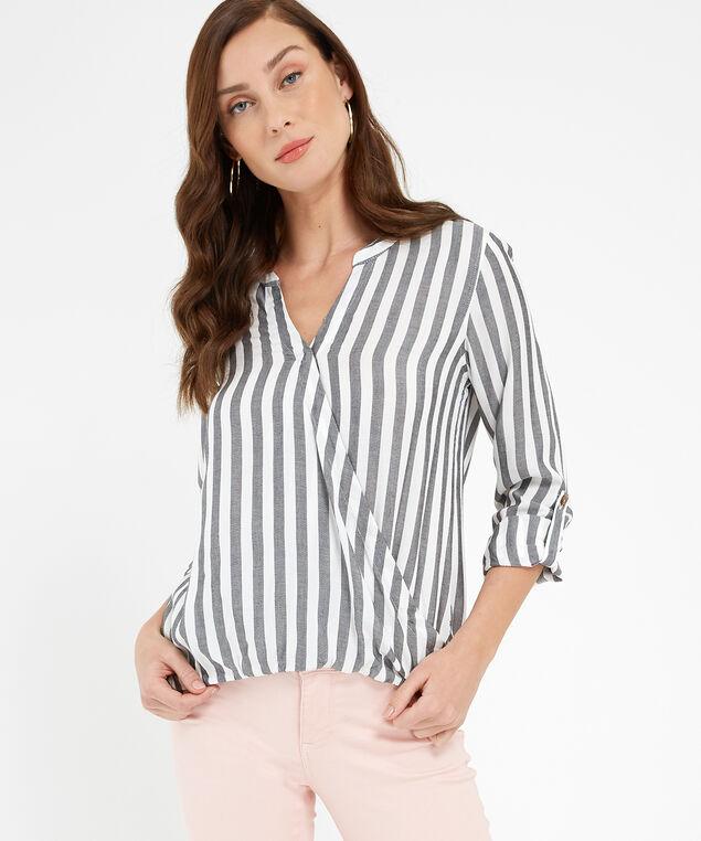 roll tab surplus shirt - wb, IVORY / CHARCOAL, hi-res