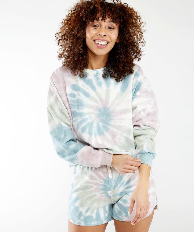 multi colour tie dye pullover, Pastel Tie Dye
