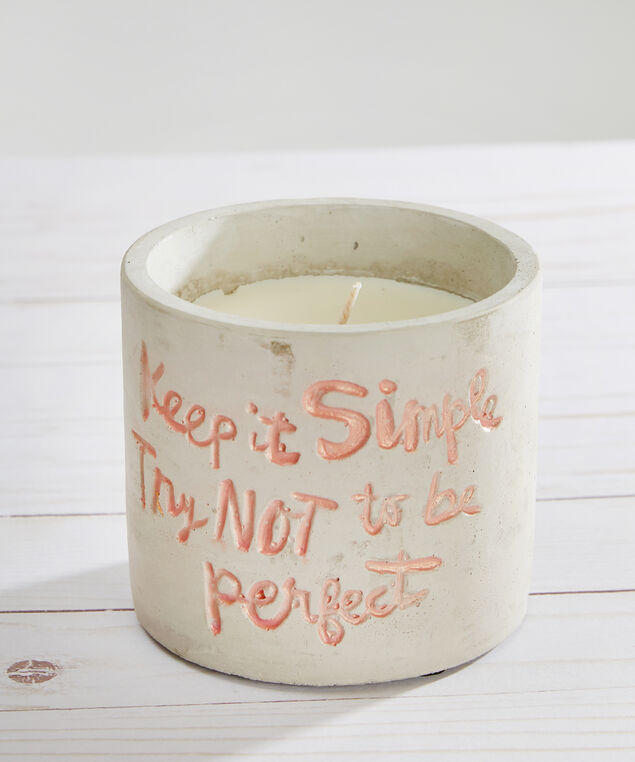 concrete keep it simple candle - wb, GREY COMBO, hi-res