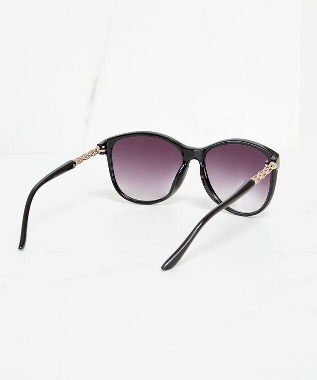 oversized wayfarer sunglasses, Black