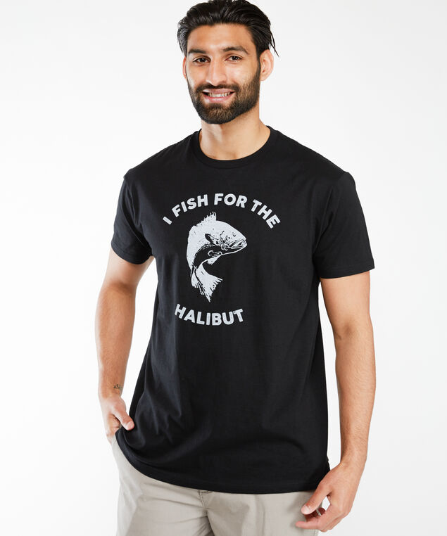 for the halibut screen t-shirt, Black