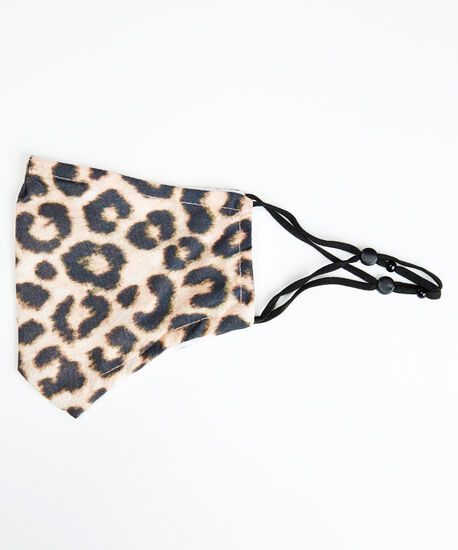 animal print face mask, Natural, hi-res