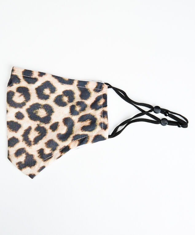 animal print face mask, Natural