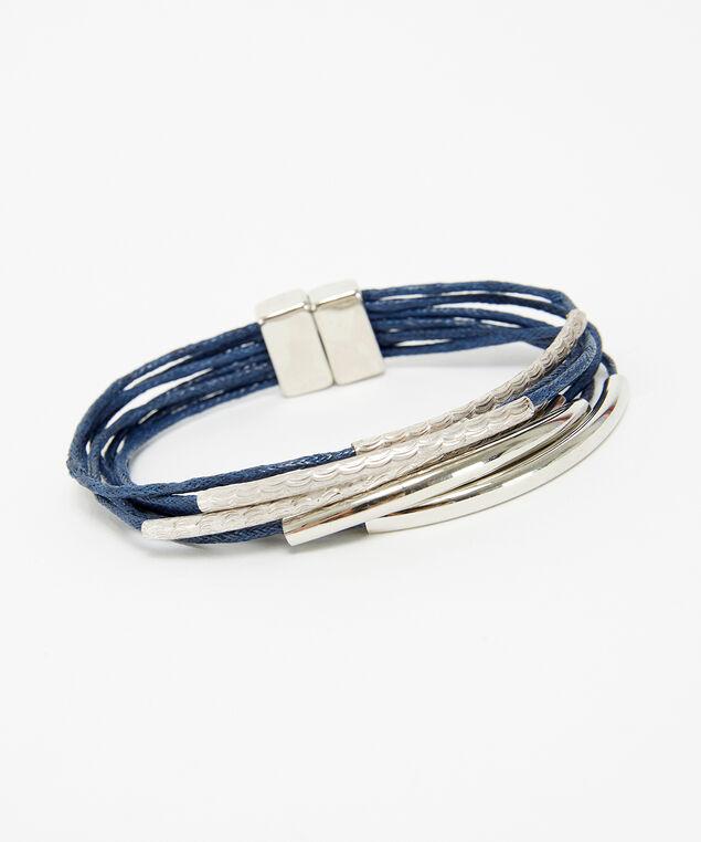 multi-strand bracelet, SILVER, hi-res