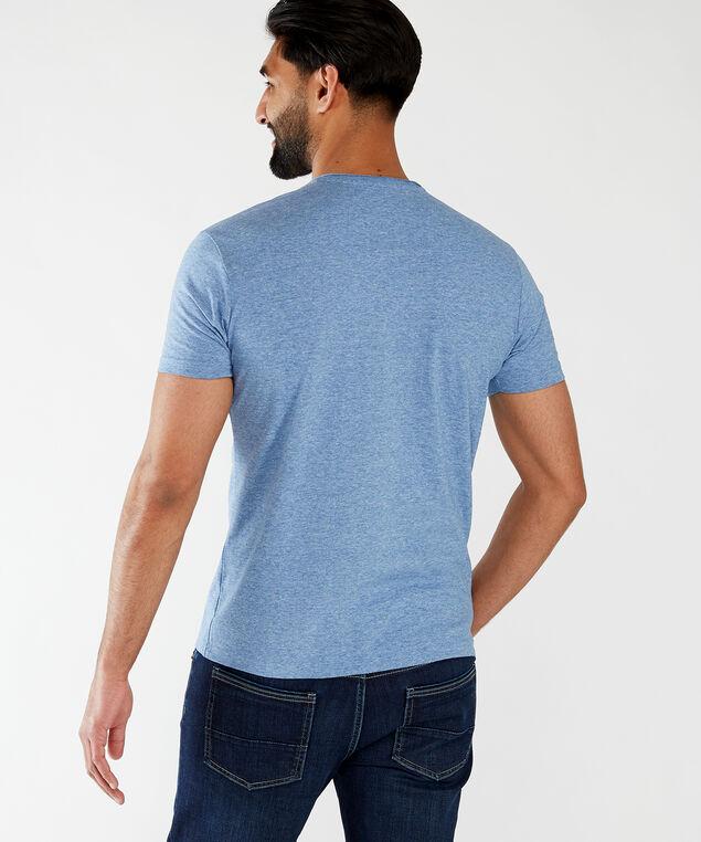 short sleeve henley tee, Blue