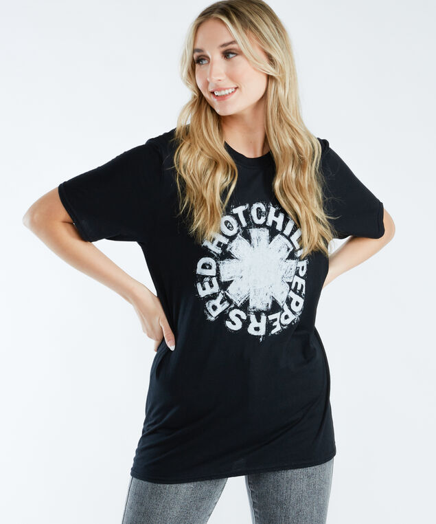 red hot chili peppers graphic tee, Black