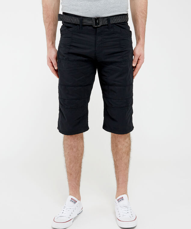 messenger short with belt - wb, Black, hi-res