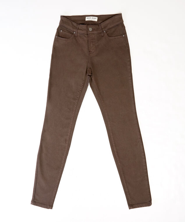 colour skinny ankle f2 brown, , hi-res